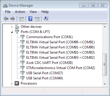 stm virtual com port driver setup